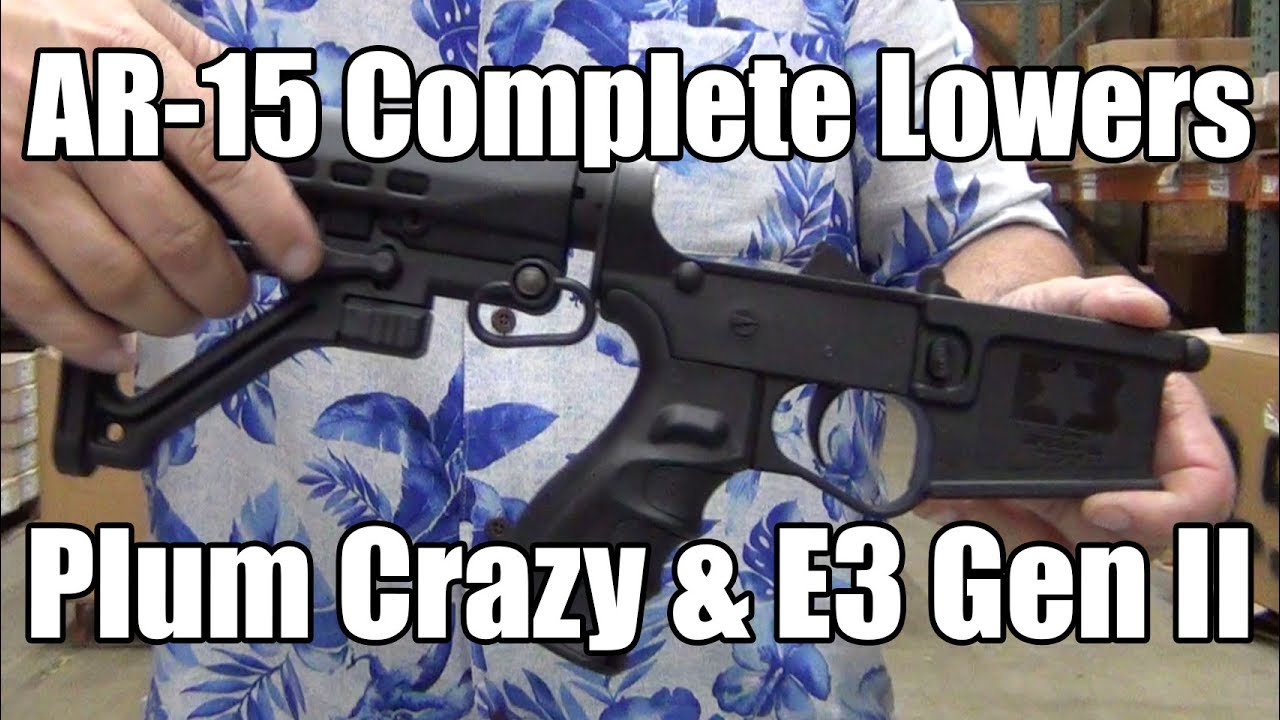 Repeat Complete AR-15 Lower Receivers - Plum Crazy & E3