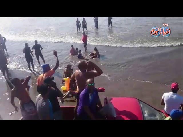 أخبار اليوم | اخلاء شواطئ رأس البر  لإرتفاع الأمواج ووجود دومات