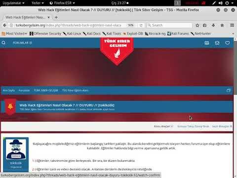 Web Hack Eğitimleri   Siber Eğitim   TSG