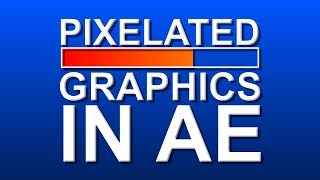 Pixelated Graphics (16-bit mosaic effect) - Adobe After Effects Tutorial