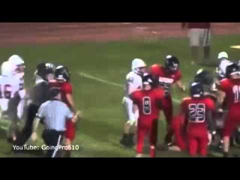 A high school footballer in the US is facing assault and disorderly conduct charges