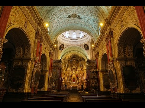 ECUADOR - QUITO (PART 2) - CHURCHES INSIDE (Full HD)