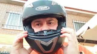 YEMA Casco Moto Modular ECE Homologado YM 925 Casco, COMODO, POCA SONORIDAD Y BONITO