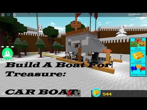 INSANE CAR BOAT! | Roblox Build A Boat For Treasure