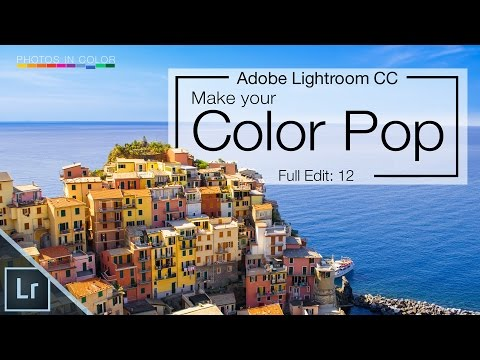 Lightroom 6 tutorial - Amazing color pop and Color Grading in