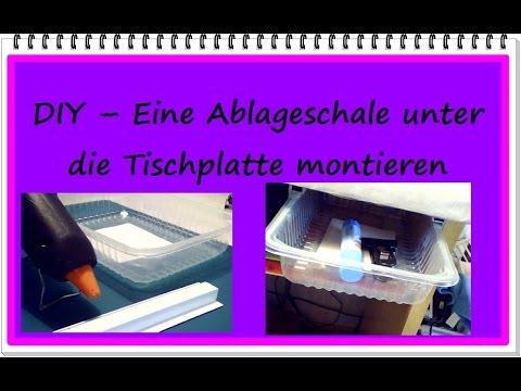 diy eine ablageschale unter den schreibtisch montieren null euro tipp youtube. Black Bedroom Furniture Sets. Home Design Ideas