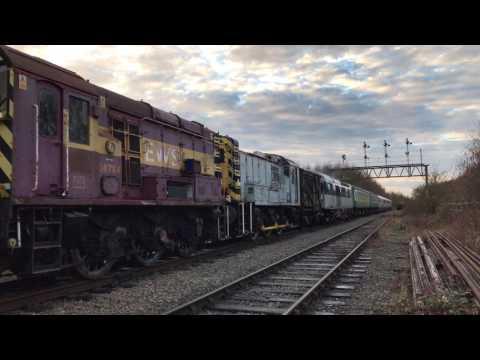 Big shunt E6016 (73110) 08922 08784 41001 D8098 (20098) Great Central Railway Nottingham Ruddington