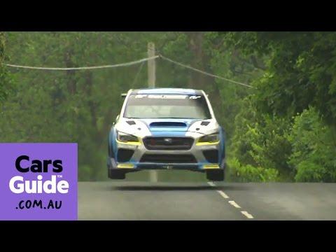 Subaru WRX STi smashes Isle of Man TT record   In the raw video