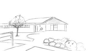 School Field Sketch
