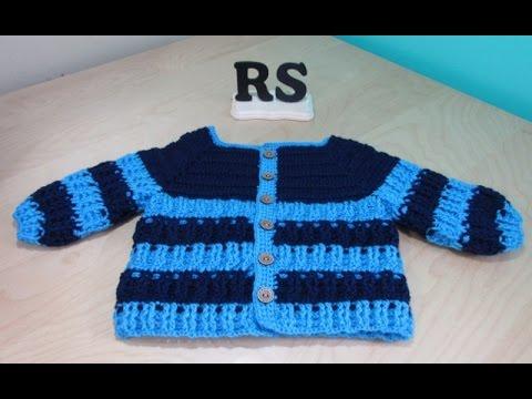 fb6aa3ad0 Crochet abrigo de niño de 6 a 12 meses para principiantes - YouTube