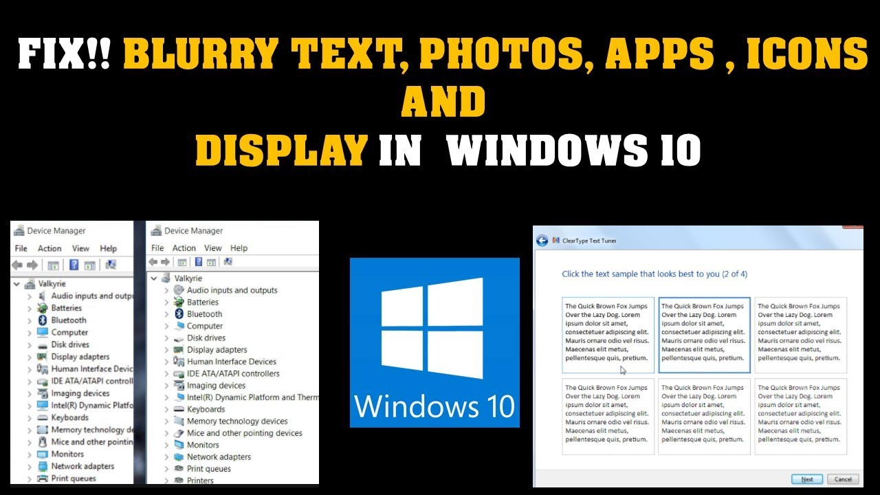 Fix Blurry Text in Windows 10