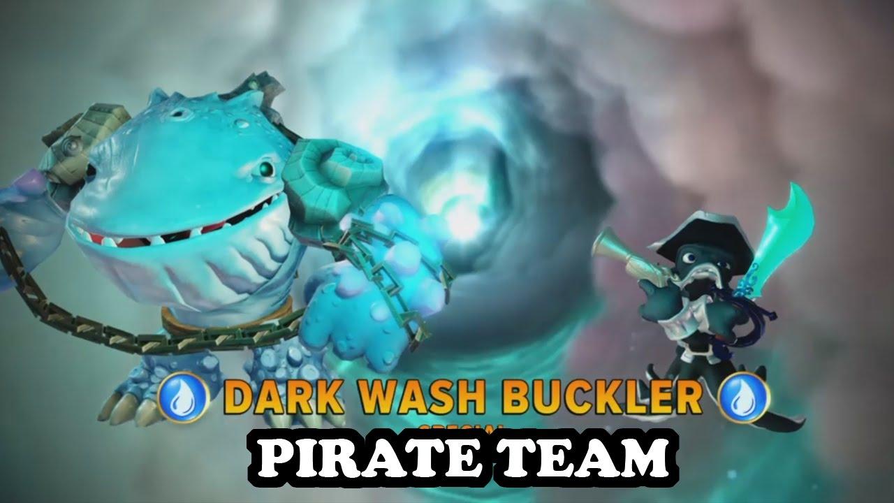 Skylanders imaginators thumpback dark wash buckler with pirate music gameplay pirate team - Skylanders thumpback ...