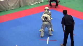 組手 11歳男子-40㎏級(42名) 434VS437正堺洸羽 http://kyokushin-shiga...