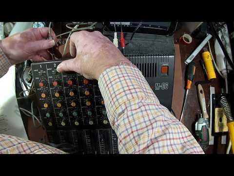 Si098 - Reparação de misturadora de som, Tascam M-06 - 2/3