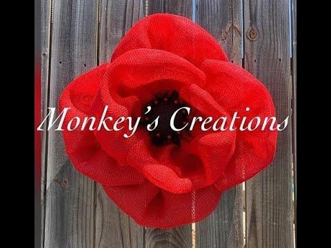 Poppy Flower Wreath / Easy DIY Remembrance Wreath