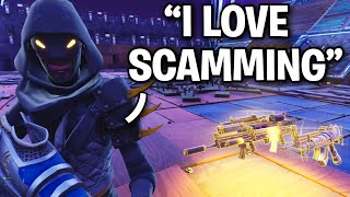 DUMB LYING KID Scammed Himself!! 😂🤣 (Scammer Get Scammed) Fortnite Save The World