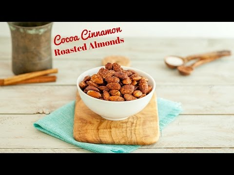 Cocoa Cinnamon Roasted Almonds, Paleo & Low Carb