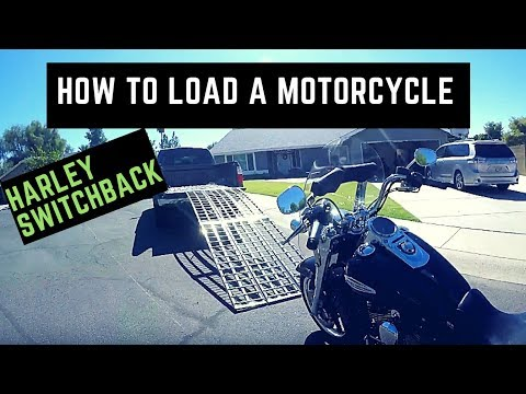 How to Load a Harley Motorcycle into Truck Using Big Boy Ramps