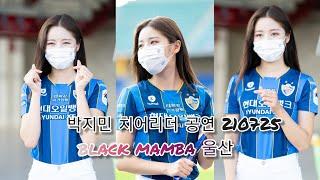 울산현대축구 박지민 치어리더 공연 black mamba…
