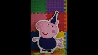 Джордж своими руками из мультика Свинка Пеппа. Peppa pig на русском. Фотозона