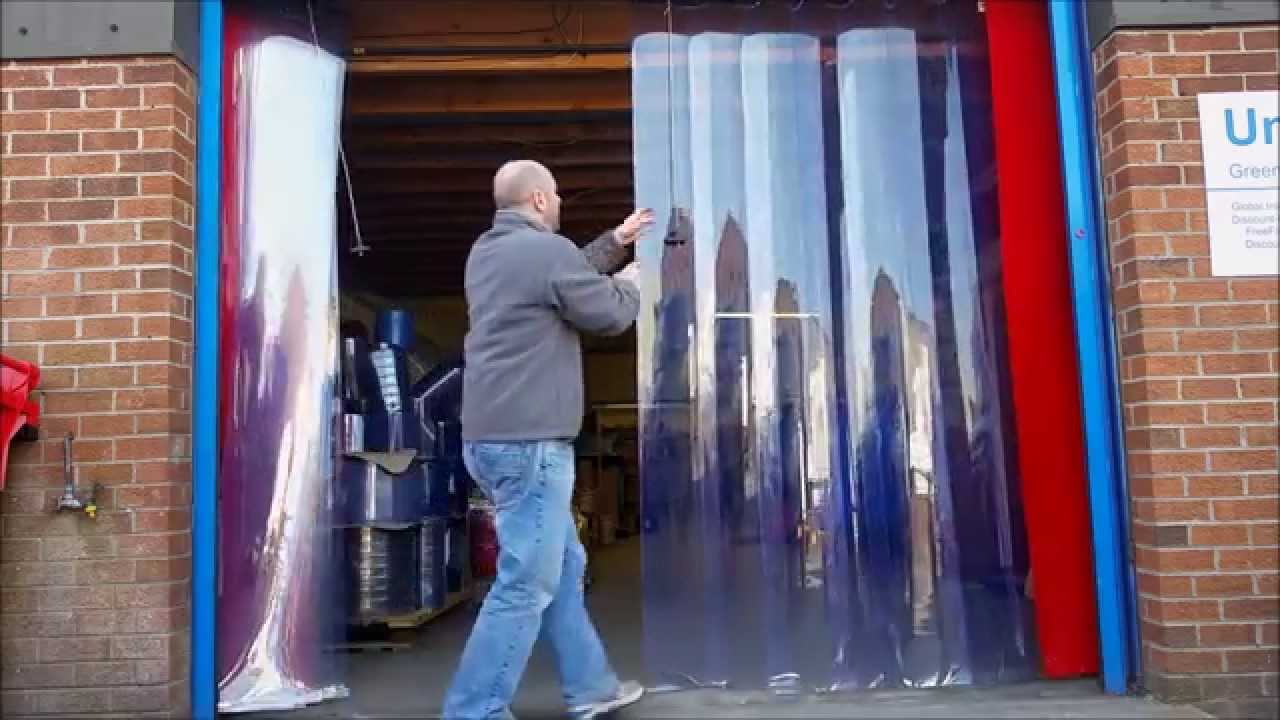 Sliding Pvc Curtains Youtube