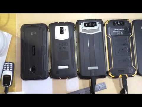 Визуальное сравнение защищенных смартфонов Blackview
