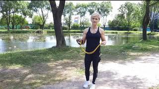 Ноги ягодицы 1 Упражнения с спандером