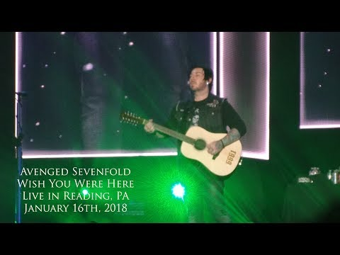Avenged Sevenfold - Wish You Were Here (Pink Floyd) (Live in Reading, PA 1-16-18)