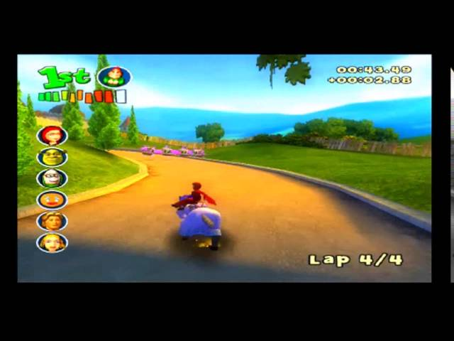 Shrek Smash N Crash Racing Ps2 Red Riding Hood In Far Far Away Cup Mirrored Youtube