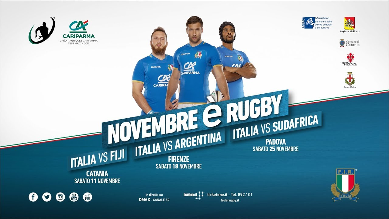rugby lo spot dei cr dit agricole cariparma test match di novembre 2017 youtube. Black Bedroom Furniture Sets. Home Design Ideas