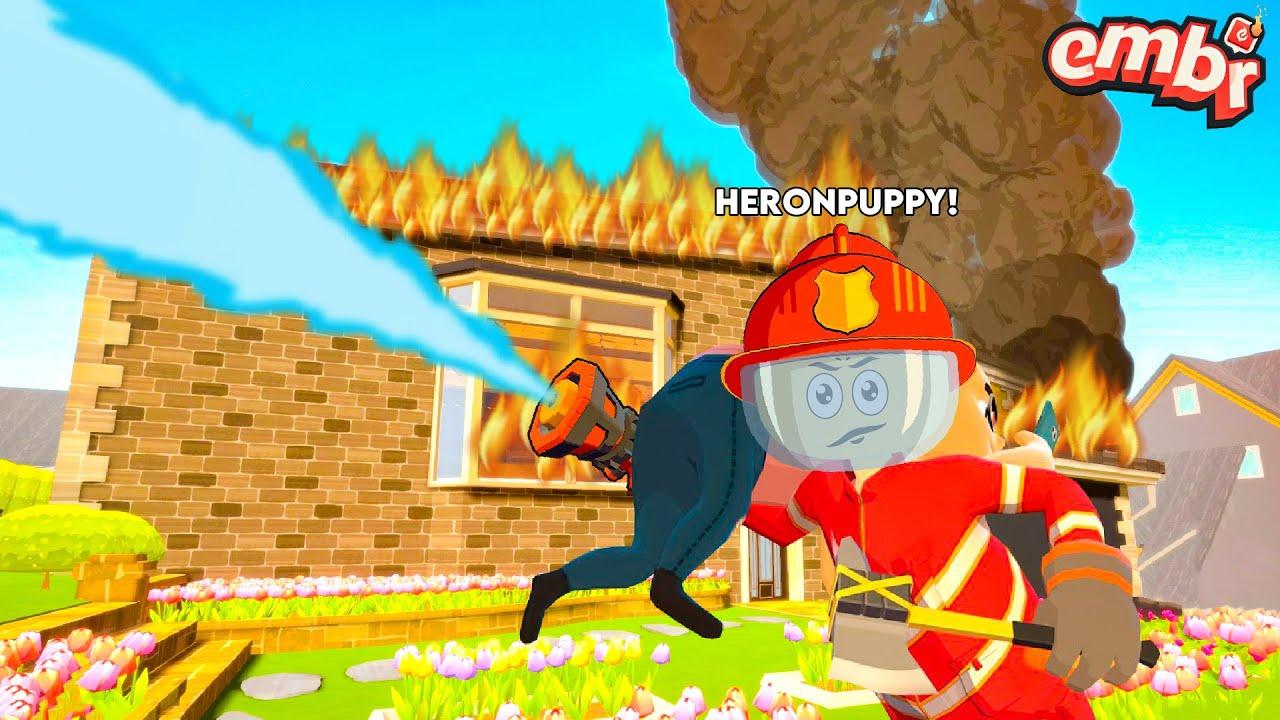 Yangınları Söndürüyor ve İnsanları Kurtarıyoruz!! - Panda ile Embr