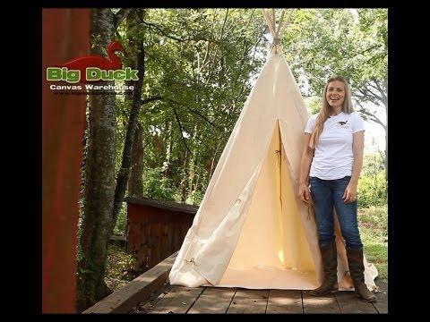 How To Make A Tipi TEEPEE by Big Duck Canvas  YouTube
