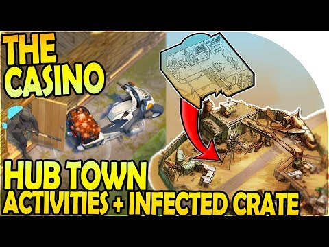 CASINO LOCATION at THE HUB ( Central City Town ), INFECTED CRATE - Last Day on Earth Survival 1.10.3