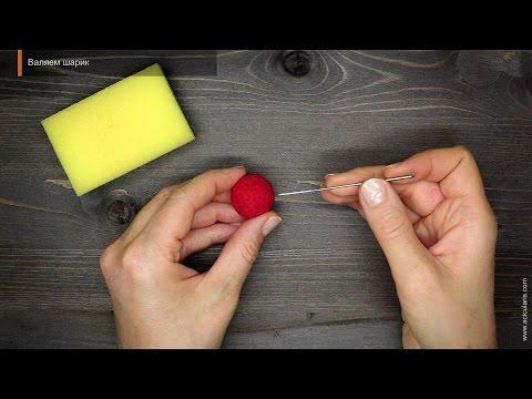 Как сделать шар из фетра
