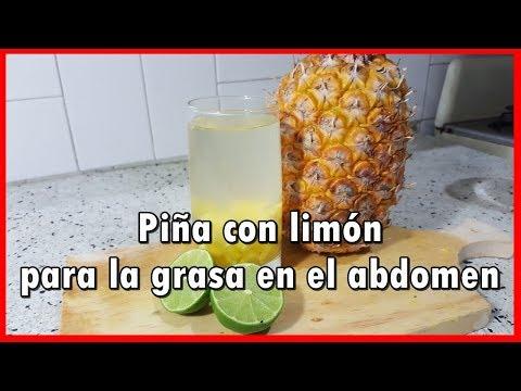 Piña con limón para la grasa en el abdomen