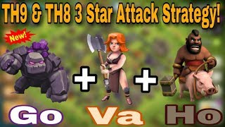 """(HINDI) Best TH8 & TH9 """"GOVAHO"""" Attack Strategy Full Guide For Perfect 3 Star 