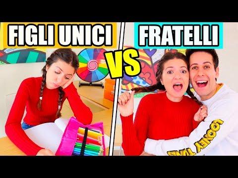 FIGLI UNICI vs FRATELLI E SORELLE