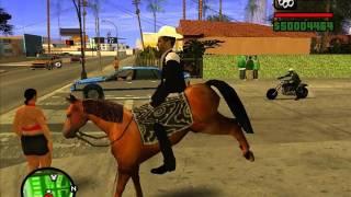 Como poner un caballo en gta san andreas