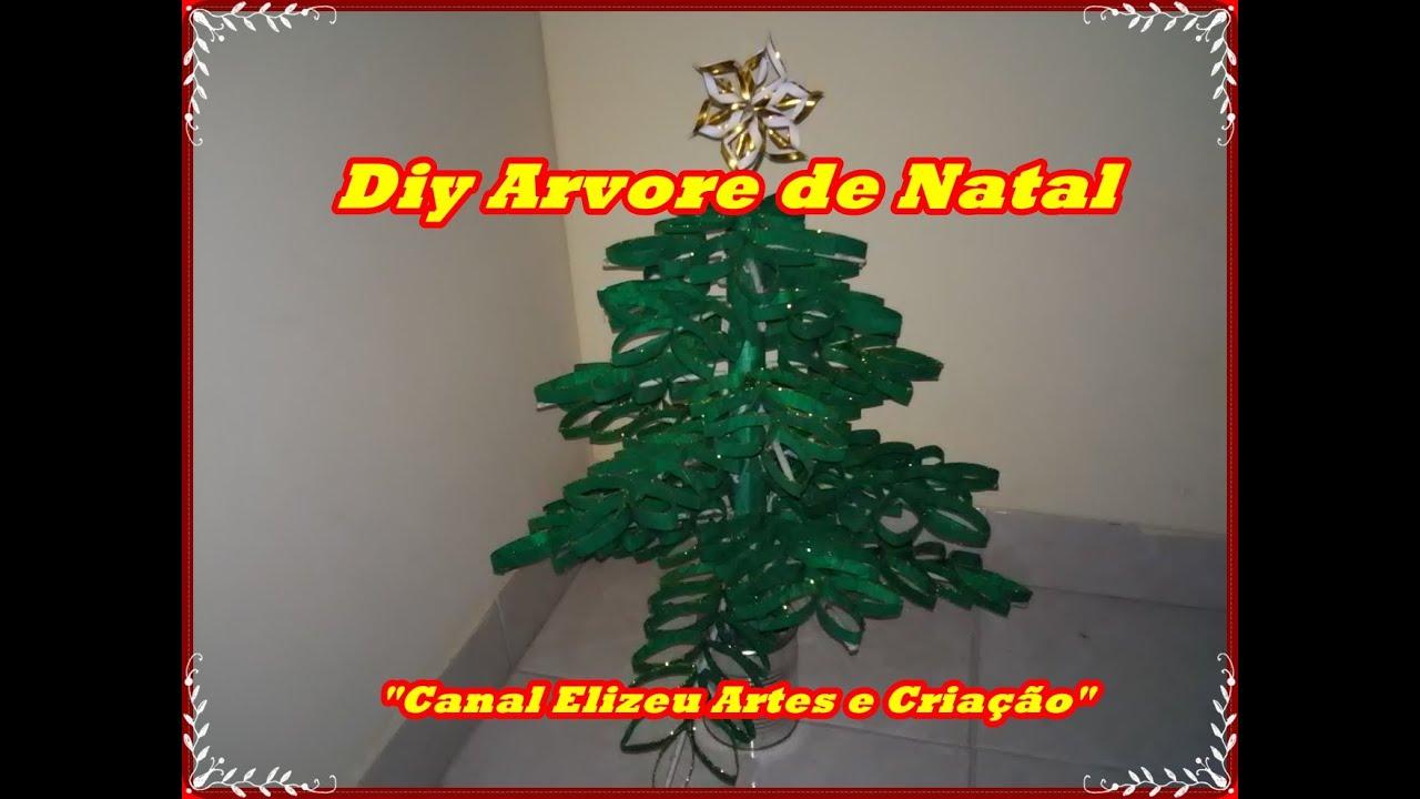 Fabuloso Diy Arvore de Natal de Rolinhos de Papel Higienico - YouTube BA64