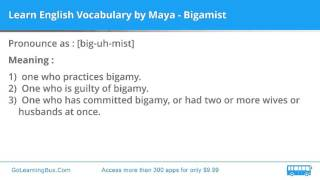Learn English Vocabulary by Maya - Bigamist