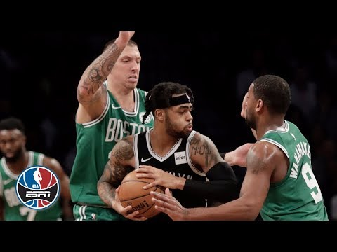 D'Angelo Russell's 34 points carries the Nets to a big win over Celtics | NBA Highlights
