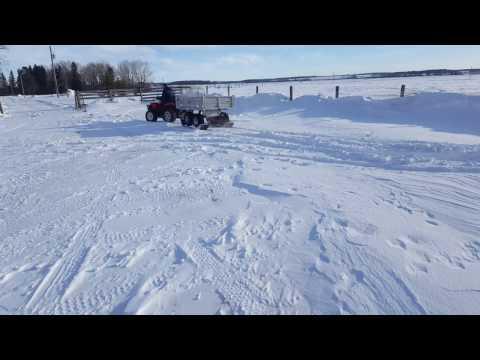 Range Road Tandem Trailer ski's