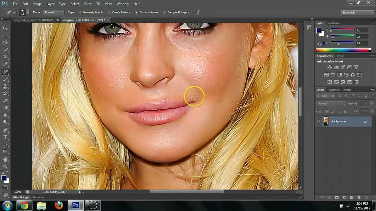 Photoshop cs6 facial touchups and basic editing tutorial youtube baditri Images
