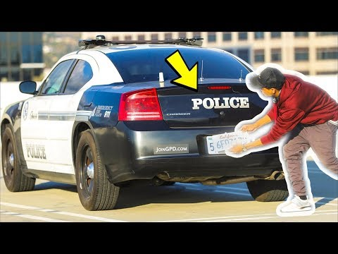 STEALING LICENSE PLATES IN THE HOOD!