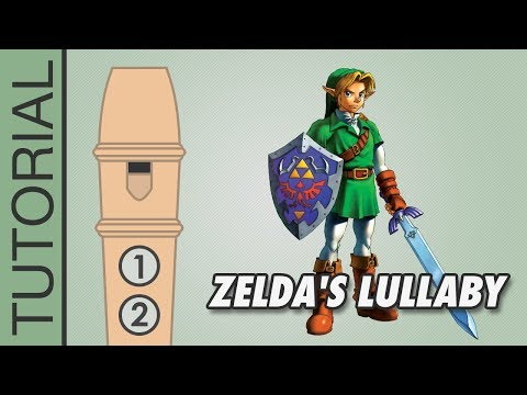 Zelda's Lullaby - Recorder Notes Tutorial