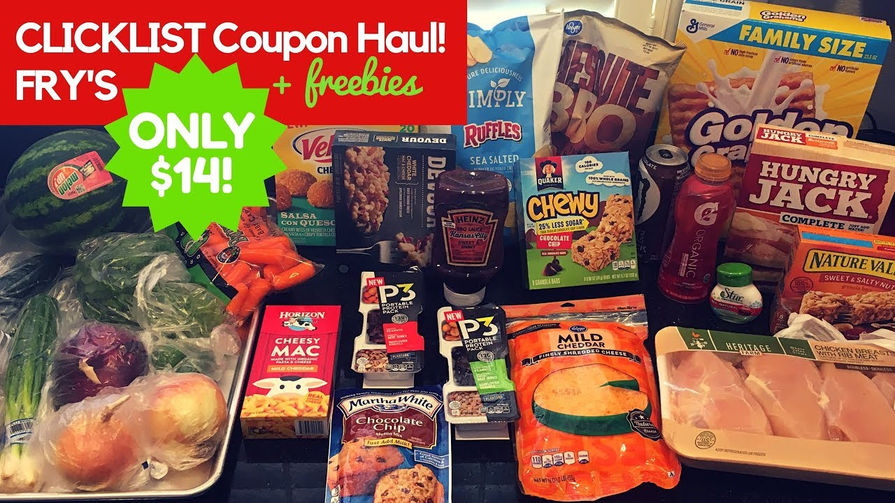 14 Coupon Haul With Frys Clicklist Grocery Pickup Only 14 For