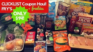 $14 COUPON HAUL with Fry's CLICKLIST grocery pickup!! ONLY $14 for