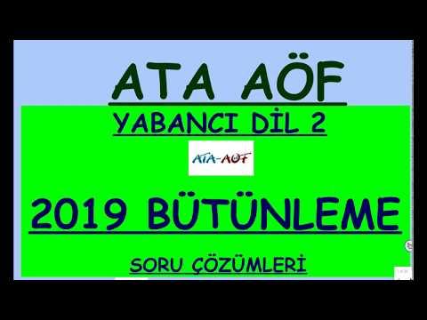 ATA AÖF İNGİLİZCE 2  2019 BÜTÜNLEME