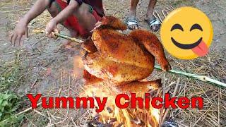 B.B.Q Chicken | সেই টেস্ট | মাঠের মধ্যে মুরগি কাবাব বানিয়ে খাওয়া