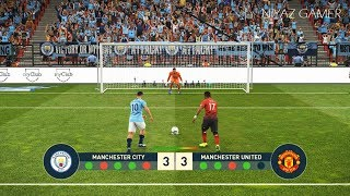 MANCHESTER CITY vs MANCHESTER UNITED | Penalty Shootout | PES 2019 Gameplay PC